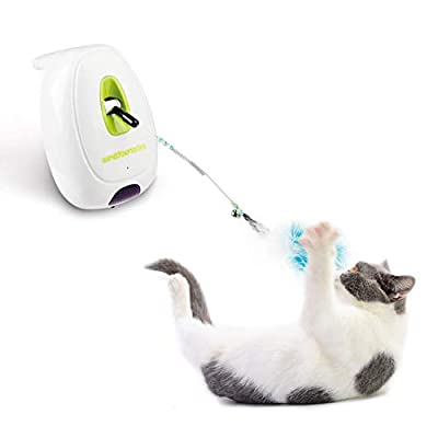 Interactive Cat Feather Wand Toy Motion Sensing Teaser Toy