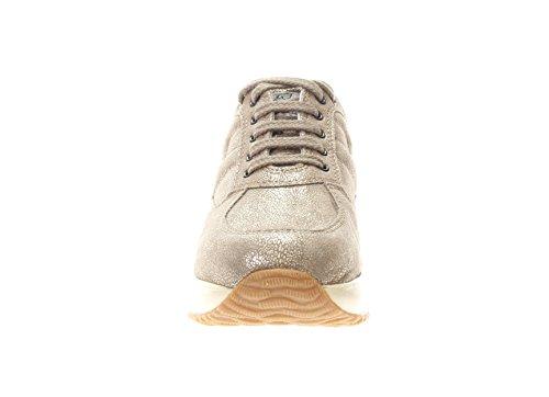 Hogan Junior Bambina Sneaker HXC00N0001EDTXC407 Interactive Scarpa Allacciata Palude