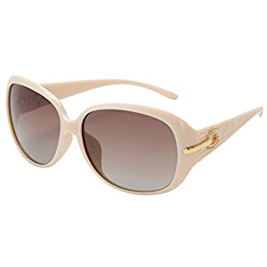 women fashion and Classic polarized sunglasses with UV400 len PROTECTION (Cream, 60)