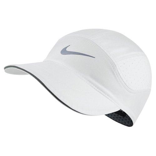 NIKE Mens Aerobill TW Elite Running Hat White/Cool Grey 828617-100