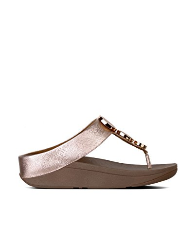 Fitflop Mujeres Halo Toe Thong Sandal Rose Gold