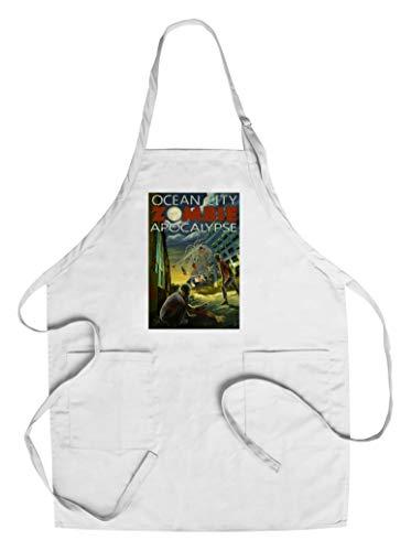 Ocean City, New Jersey - Zombie Apocalypse (Cotton/Polyester Chef's - Jersey Apocalypse
