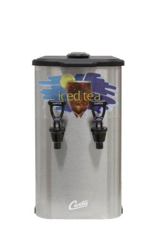 Tea Liquid Dispenser Concentrate - Wilbur Curtis Liquid Concentrate Dispenser Dual Tea Concentrate Container, Short - Designed to Preserve Flavor - TCC2S (Each)