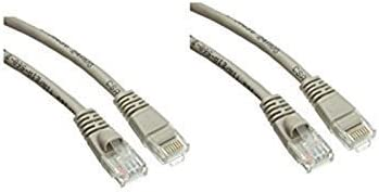 Snagless//Molded Boot Cat5e Gray Ethernet Patch Cable 75 Feet