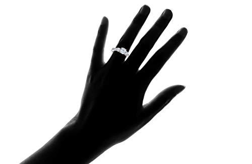 Chamonix Jewelry Womens Tri-Stone Engagement Ring- Womens Cubic Zirconia Round Cut Engagement Ring (7) by Chamonix Jewelry (Image #1)