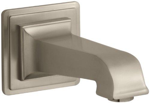 Bv Pinstripe Shower Faucet - KOHLER K-13139-A-BV Pinstripe Pure Wall-Mount 6-7/8-Inch  Non-Diverter Bath Spout, Vibrant Brushed Bronze
