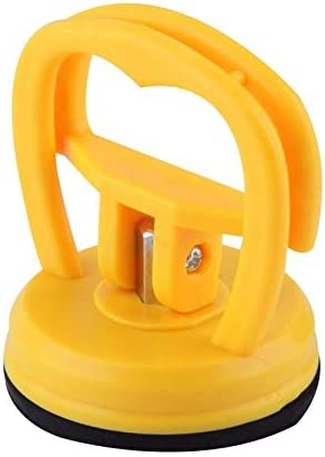 Mini Car Truck Auto Dent Body Repair Glass Mover Tool Suction Cup Dent Remover Puller Glass Metal Lifter Locking Quick Yellow