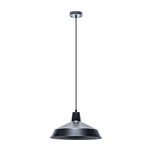 16 Inch Dome Pendant (SHANHAI Industrial Barn Lamp Pendant Light Fixture(A9 100W Bulb) for Office, Kitchens, Living Room & Bedrooms with 15'Adjustable Cord, 16