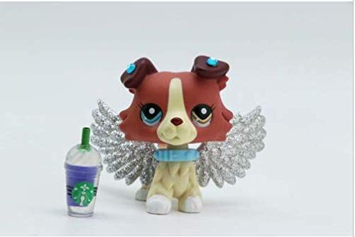 Pet Shops Littlest LPS Collie Dog #1262 Collection + LPS Accessories Angel Wings