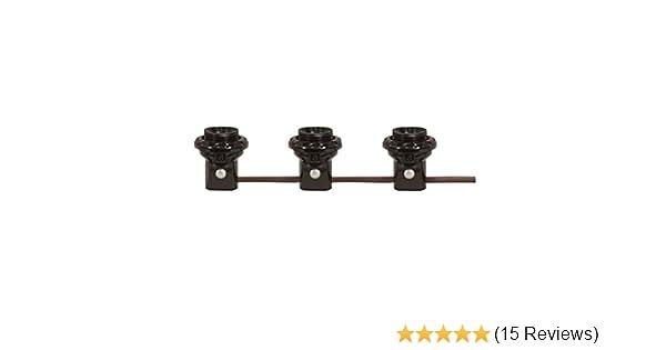 4 LITE Westinghouse 22382 Candelabra Base Black 4 Light Harness Set Socket
