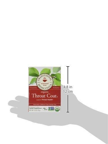 Traditional Medicinals Throat Coat, Seasonal Tea, Organic, 16 CT