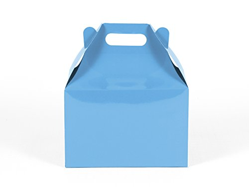 12CT (1 Dozen) Large Biodegradable Kraft / Craft Favor Treat Gable Boxes (Large, Light (Gables One Light)
