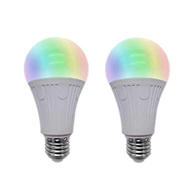 Wi-Fi LED Light Bulb, Dimmable LED Bulb, Compatible with Alexa and Google Assistant, Support IFTTT, No Hub Required, 60W Equivalent, Cool White and Warm White, E27, 600 Lumens, RGB+CW