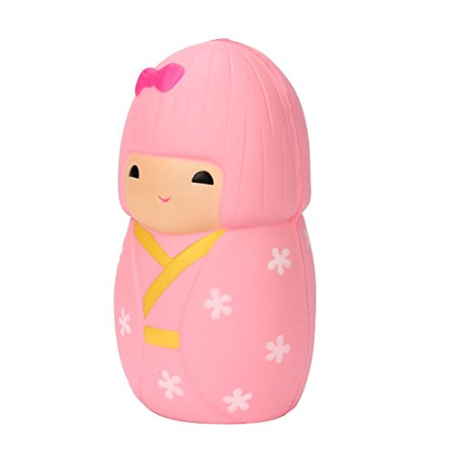 Squeeze Emulation Doll Squishy Toys,Gocheape Slow Rising Scented Relieve Stress Toy Gifts Simulation Decompression Toys (Pink)