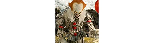 Animated Giant Pennywise Figure Halloween Yard Decoration and Prop, 6' H, by Morbid