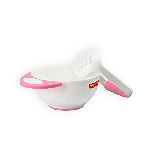 Fisher-Price Baby Polypropylene Food Mash and Serve Bowl Set- (Pink, 3 Months)