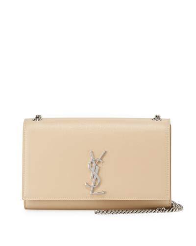 Saint Laurent Kate Monogram YSL Medium Wallet on Chain made in Italy (Beige)