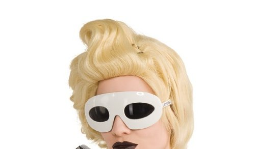Lady Gaga Glasses,White,One Size (Lady Gaga Fancy Dress)