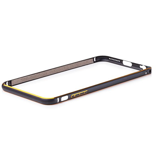 Wood Aluminum Metal Bumper Frame Case For iPhone 6s plus (Gold) - 9