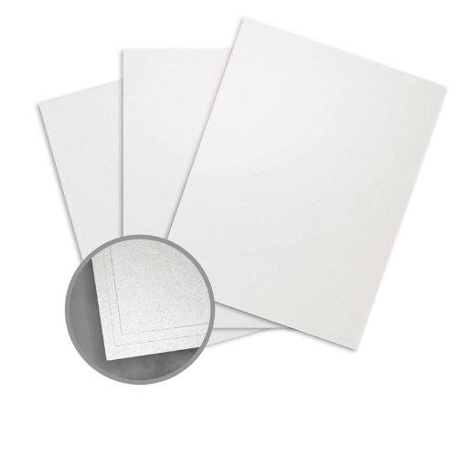 ASPIRE Petallics Beargrass Card Stock - 8 1/2 x 11 in 98 lb Cover Metallic C/2S 30% Recycled 200 per Package