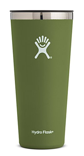 - Hydro Flask 32 oz Double Wall Vacuum Insulated Stainless Steel Travel Tumbler Cup with BPA Free Press-In Lid, Olive