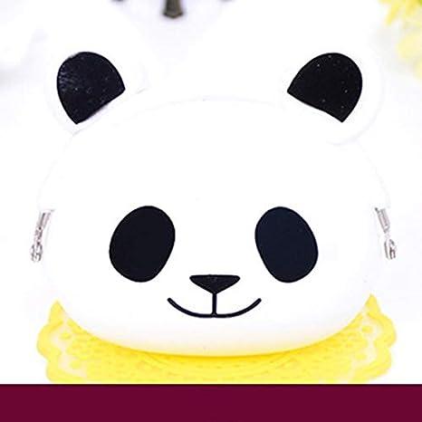 Bubbry Mini Cute Cartoon Cat Dog Panda Monedero de Silicona ...