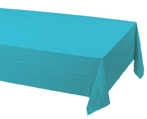 Creative Converting 11390 Plastic Banquet Table Cover, Bermuda Blue