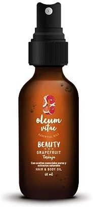 OLEUM VITAE: Aceite para cabello y cuerpo con Aceite Esencial de Toronja 60 ml.