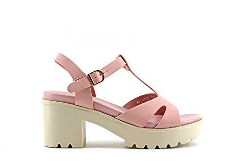 Modelisa - Sandalia Tacon Plataforma Mujer Rosa