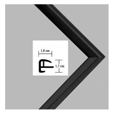 Cornice Rotterdam 50x69cm Cornice In Plastica 69x50cm Colore Selezionato Nero Opaco Con Vetro Plastico Protettivo Antiriflesso 1mm