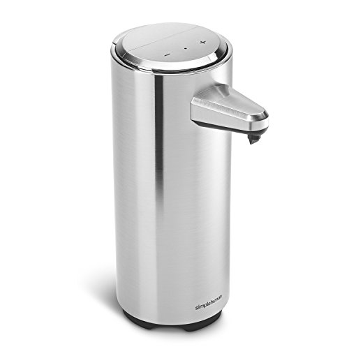 simplehuman 11 oz. Rechargeable Sensor Pump with Soap Sample, Brushed Nickel