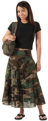 Army Universe Woodland Camouflage Military Gauze Skirt (Womens) 1030 Size Large