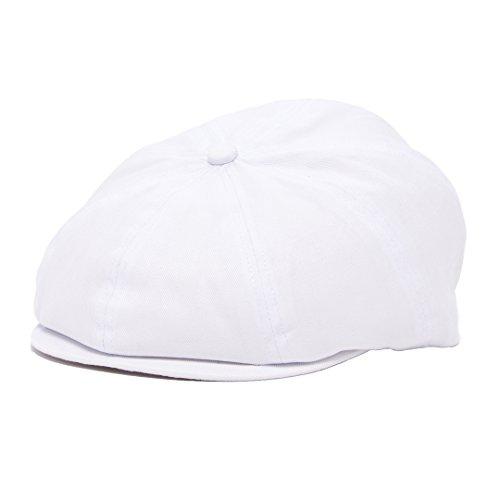 (Born to Love Scally Cap - White Baptism Christening Baby Jeff Driver Cap (NB (3-6 Months 43 cm), White Newsboy))