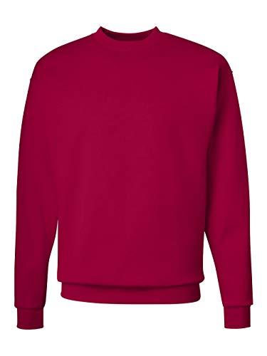 Hanes Men's Ecosmart Fleece Sweatshirt, Deep Red, Large