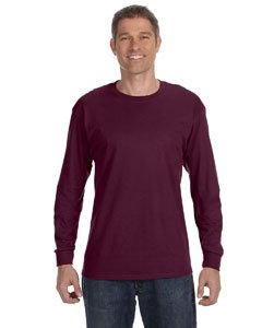Jerzees Adult Long-Sleeve Heavyweight BlendT-Shirt - Maroon - L
