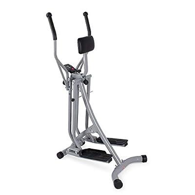 Akonza Air Walker Glider Stride Elliptical Trainer Fitness Exercise Step Machine Workout Equipment w/Computer Monitor
