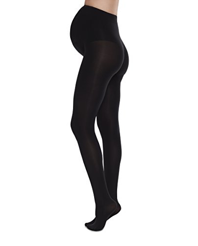 (SWE-S. Swedish Stockings Matilda Maternity Tights Sustainable Opaque 60 Denier Support Tights for Pregnant Women Black)