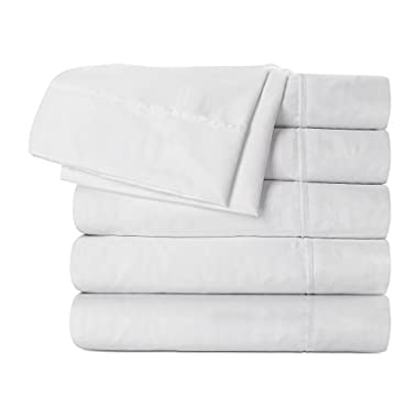 Flat Sheet 6 Pack (Twin, White) Brushed Microfiber - Soft, Breathable, Iron Easy, Wrinkle, Fade and Stain Resistant - Hotel Quality by Utopia Bedding