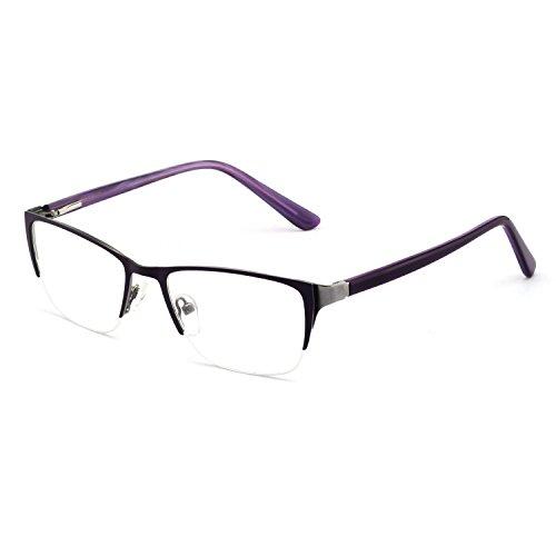 OCCI CHARI Rectangle Stylish Eyewear Frame Non-Prescription Eyeglasses With Clear Lenses Gifts For Women Men ()