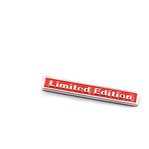 1x 3D Metal Limited Edition Car Trunk Fender Bumper Red Emblem Sticker Decal Auto Trim Badge For Audi A4 A6 Q5 Q7 etc.