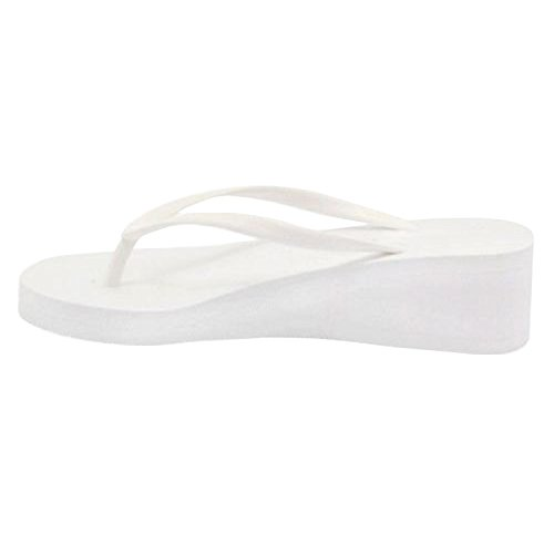 Womens Thong Wedge Platform Low Heel Summer Beach Flip Flops Sandals (Flip Low Wedge Flop)