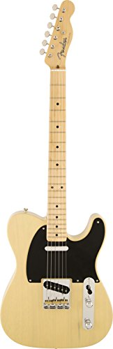 Fender American Vintage '52 Telecaster Korina Solid-Body Electric Guitar, Blackguard - Body Korina