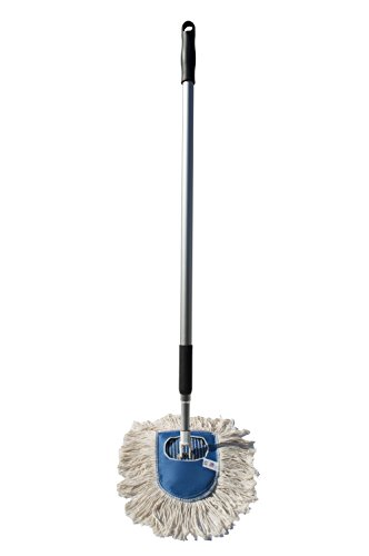 Nine Forty Industrial | Commercial Strength Ultimate Cotton Wedge Dust Mop Head with Aluminum Extension Handle and Frame | Hardwood Floor Mop (Mop Dust Wedge)