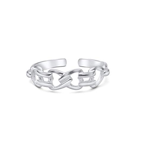 High Polished Sterling Silver Celtic Design Toe Ring by Kezef Creations
