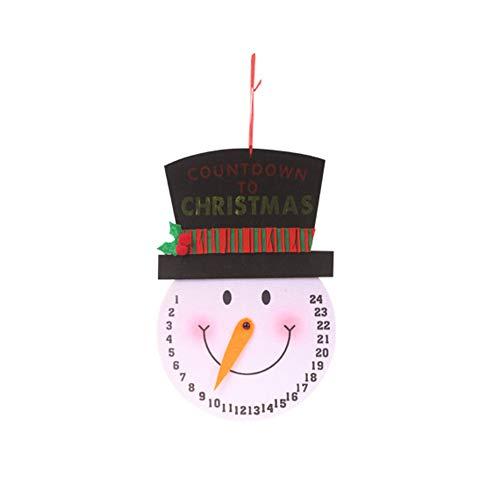 [해외]MacRoog Non-Woven Christmas Advent Countdown Clock Santa ClausSnowman Calendars Xmas Tree Hanging Pendants Home Decor / MacRoog Non-Woven Christmas Advent Countdown Clock Santa ClausSnowman Calendars Xmas Tree Hanging Pendants Home...