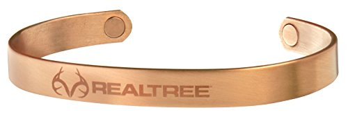 (Sabona Realtree Brushed Copper Magnetic Wristband, X-Large)