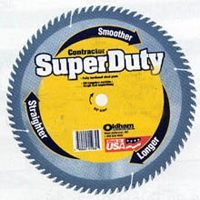 Oldham 120C480 Super Duty 12-Inch 80 Tooth ATB Crosscutting Saw Blade with 1-Inch Arbor