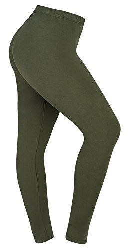 Army Green Apparel (Lataly Women's Plus Size Leggings Summer Lightweight Breathable Yoga Legging Color Army Green Size 3XL Plus)