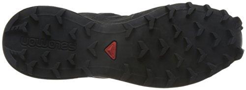 Salomon L38313000, Zapatillas de Trail Running para Hombre Negro (Black/black Metallic)