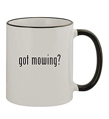 got mowing? - 11oz Colored Rim & Handle Sturdy Ceramic Coffee Cup Mug